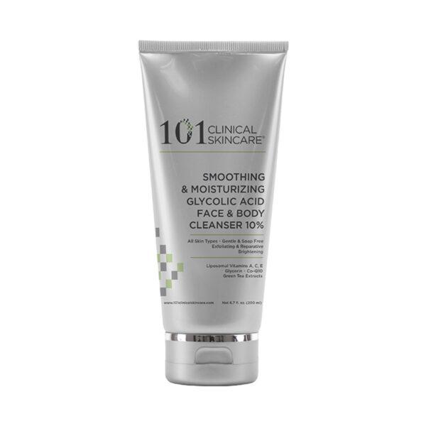 Smoothing & Moisturizing Glycolic Acid Face & Body Cleanser 10%