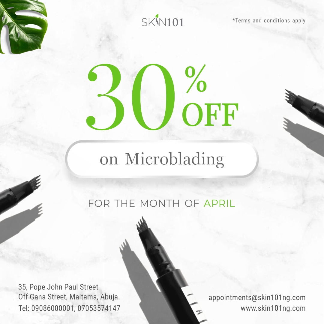 Microblading at Skin101 Abuja Nigeria