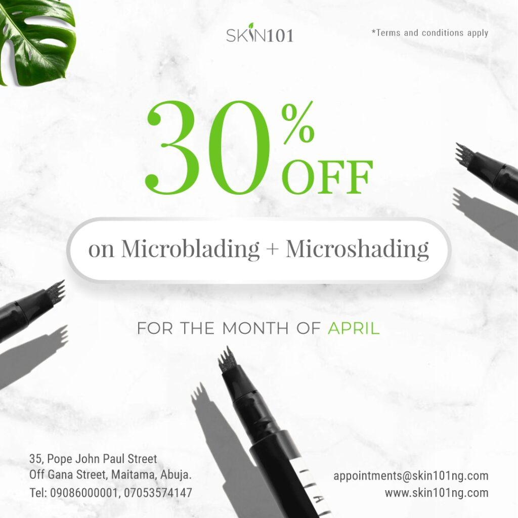 Microblading and microshading at Skin101 Abuja Nigeria