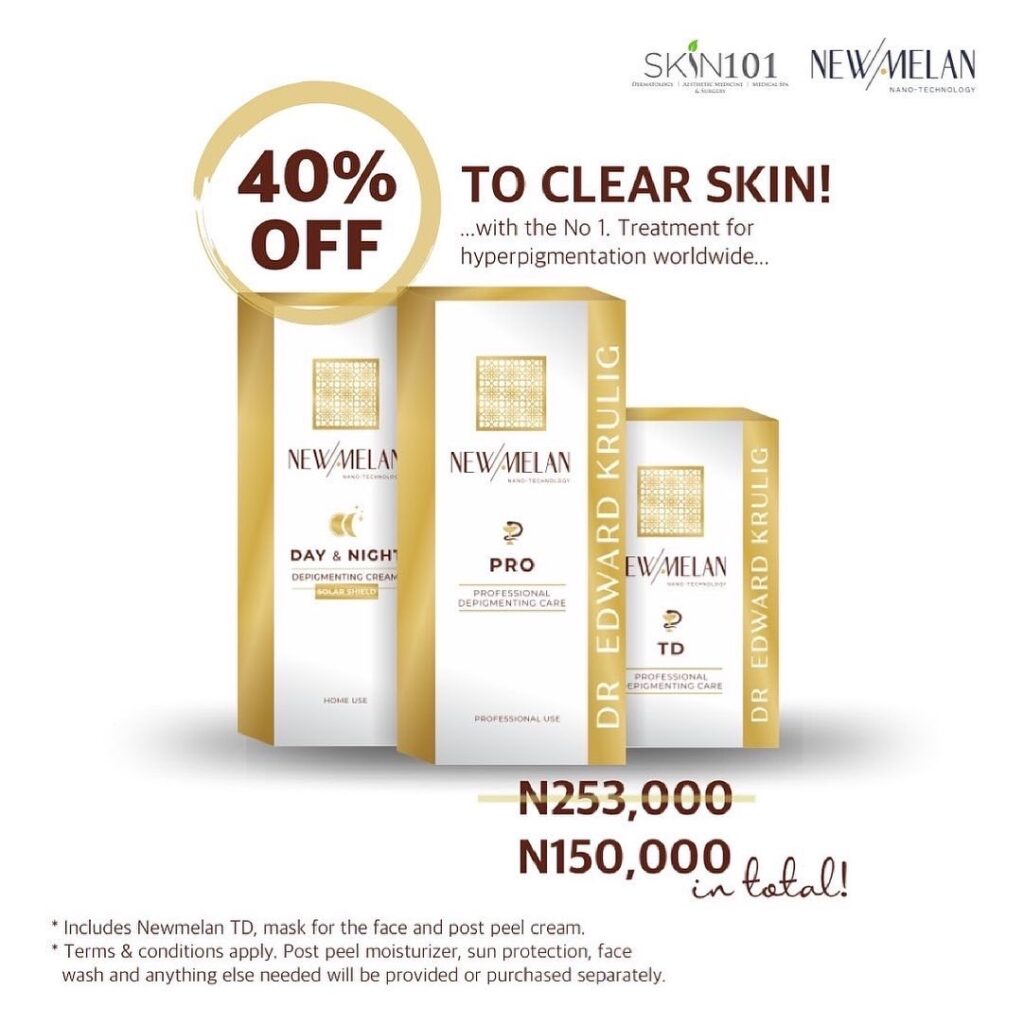 Newmelan promo at Skin101 Abuja